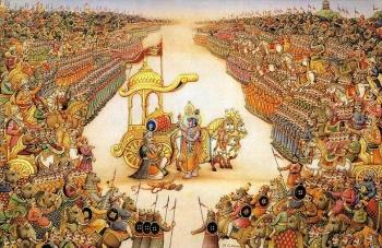 История, предшествовавшая Бхагавад Гите